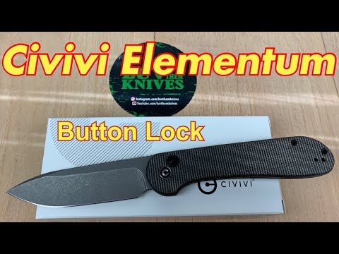 Civivi Elementum Button Lock / Includes Disassembly / it got bigger and waaayy more fun !!!