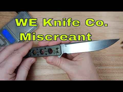 WE Knife and Brad Zinker Miscreant Overview