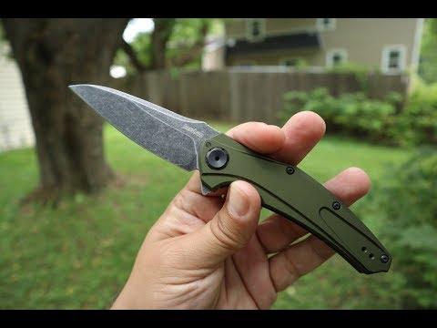 New Color!!! Kershaw Bareknuckle OD Green Blackwash. EDC greatness