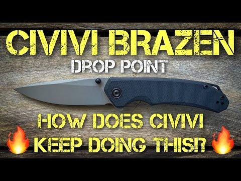Civivi Brazen Drop Point: Full Review!!