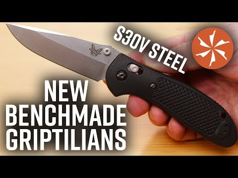 New 2019 Benchmade Griptilian Folding Knives With S30V Blade Steel Now Available at KnifeCenter.com