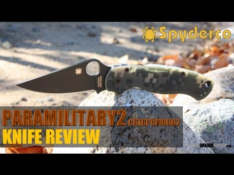 Spyderco Paramilitary2 Camo C81GPCMOBK2 Knife Review   OsoGrandeKnives