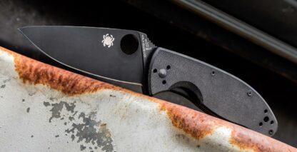 Spyderco Tenacious G-10 Black/Black Plain Blade