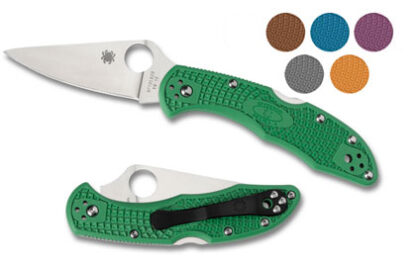 Spyderco Delica 4 Knife Lightweight Flat Ground-Plain Blade-0