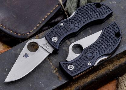 Spyderco Manbug Knife Lightweight Black - Plain Blade-7930