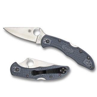 Spyderco Delica 4 Knife Lightweight Flat Ground-Plain Blade-8013