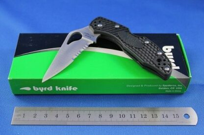 Spyderco Byrd Meadowlark2 Lightweight Black-Plain blade