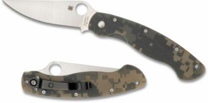 Spyderco Military Model G-10 Camo - Plain Blade