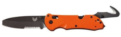 Benchmade 916SBK-ORG Triage Axis Folding Knife with Hook, Orange
