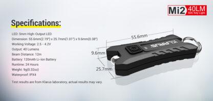 Klarus Mi2 USB Rechargeable Keychain Light