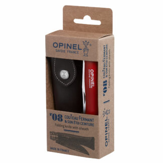 Opinel Colorama Trekking #08 Stainless Steel 8.5cm+Pouch in Gift Box - Red