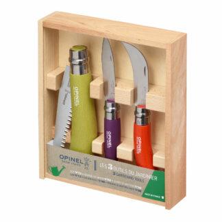 OPINEL Gardener's Tool 3pc Set in Wooden Box