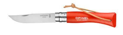 Opinel Colorama Trekking #07 Stainless Steel Folding Knife with Lanyard - Orange