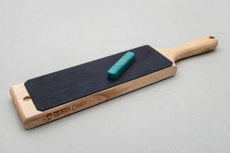 Beaver Craft LS1P1 Dual-Sided Leather Paddle Strop, P1 Polish Compound