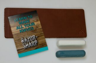 Beaver Craft LS2P11 Leather Strop for Honing, Two Polish Compounds
