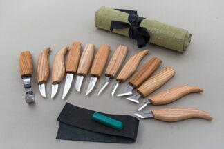 Beaver Craft S10 Wood Carving Set, 12 Knives